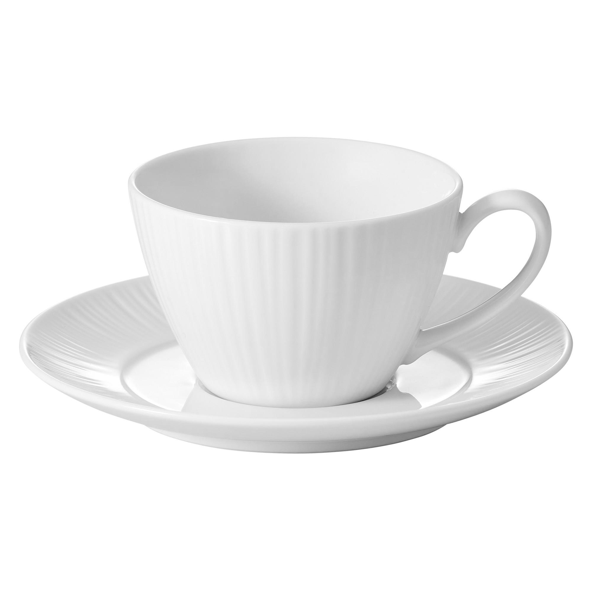 Noritake Conifere Fine Porcelain Tea Cup & Saucer Set