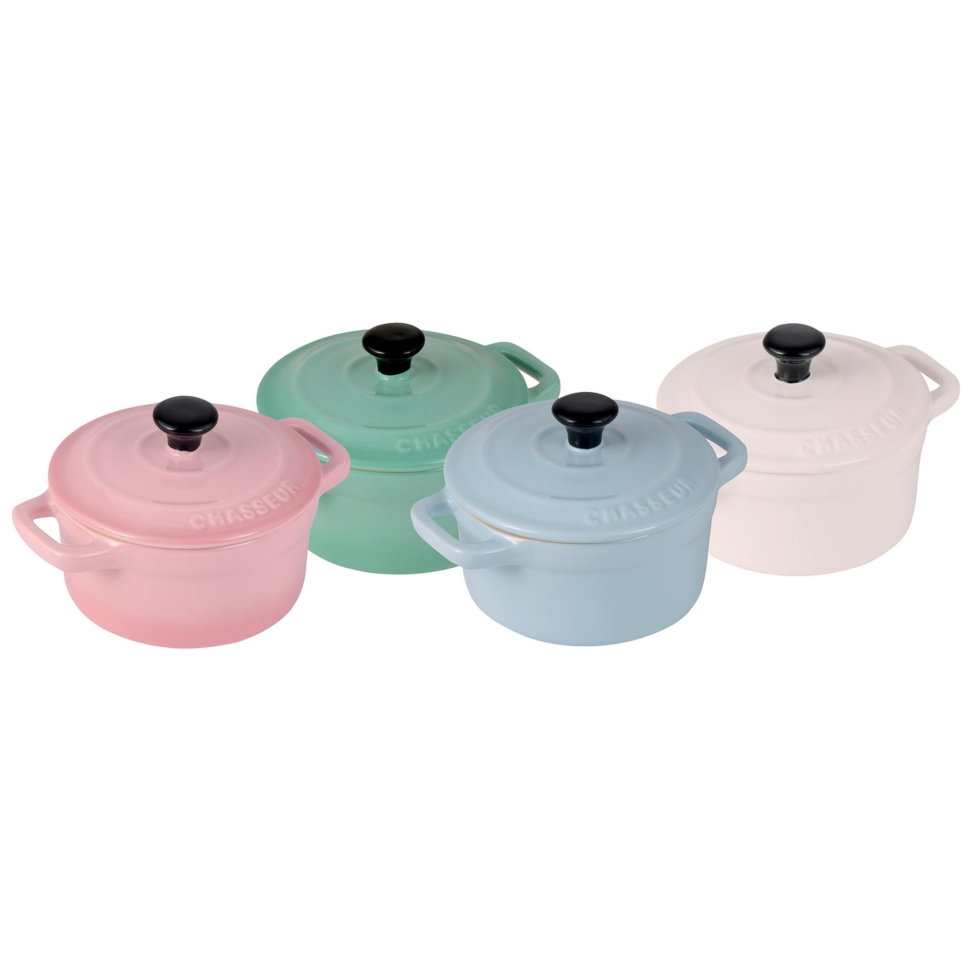 Chasseur Macaron 4 Piece Mini Mini Cocotte Set