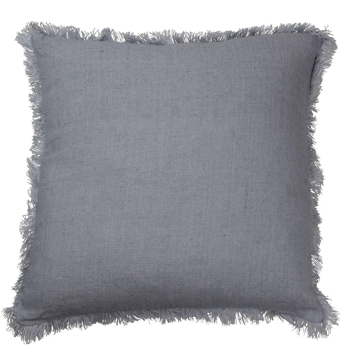 Camargue Frech Yarn Euro Cushion Cover, French Blue