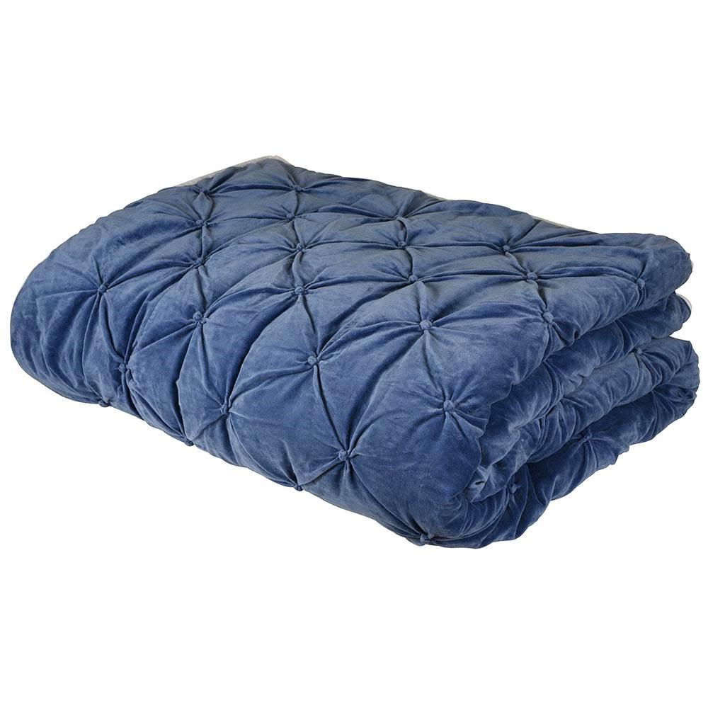 Bella Velvet Comforter, Denim