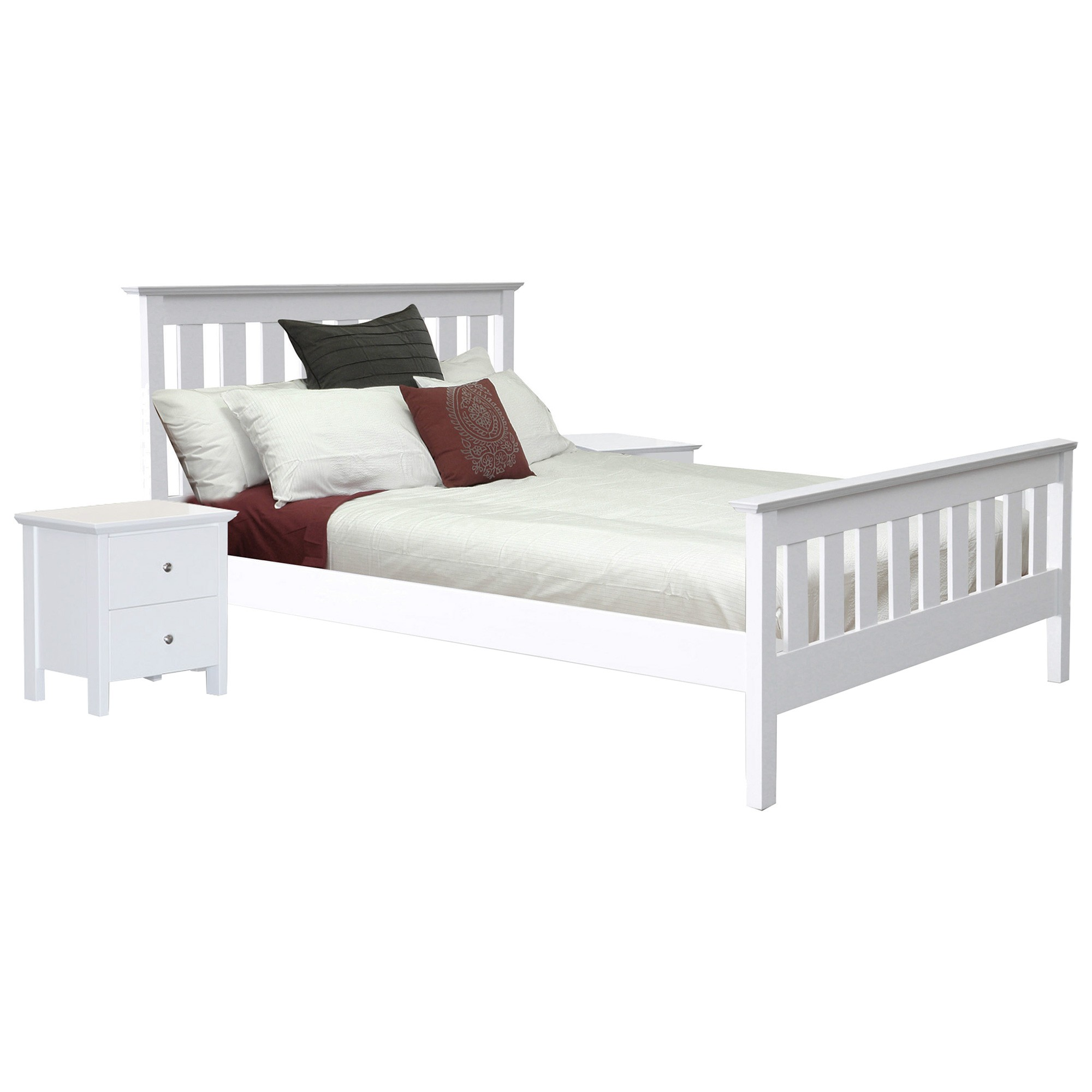 Nicky Wooden Bed, King Single