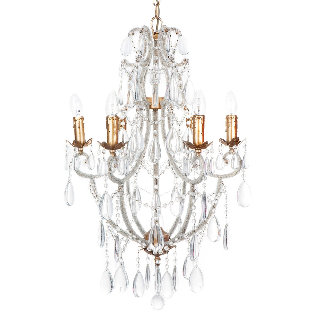 Dove Crystal Chandelier, 6 Arm