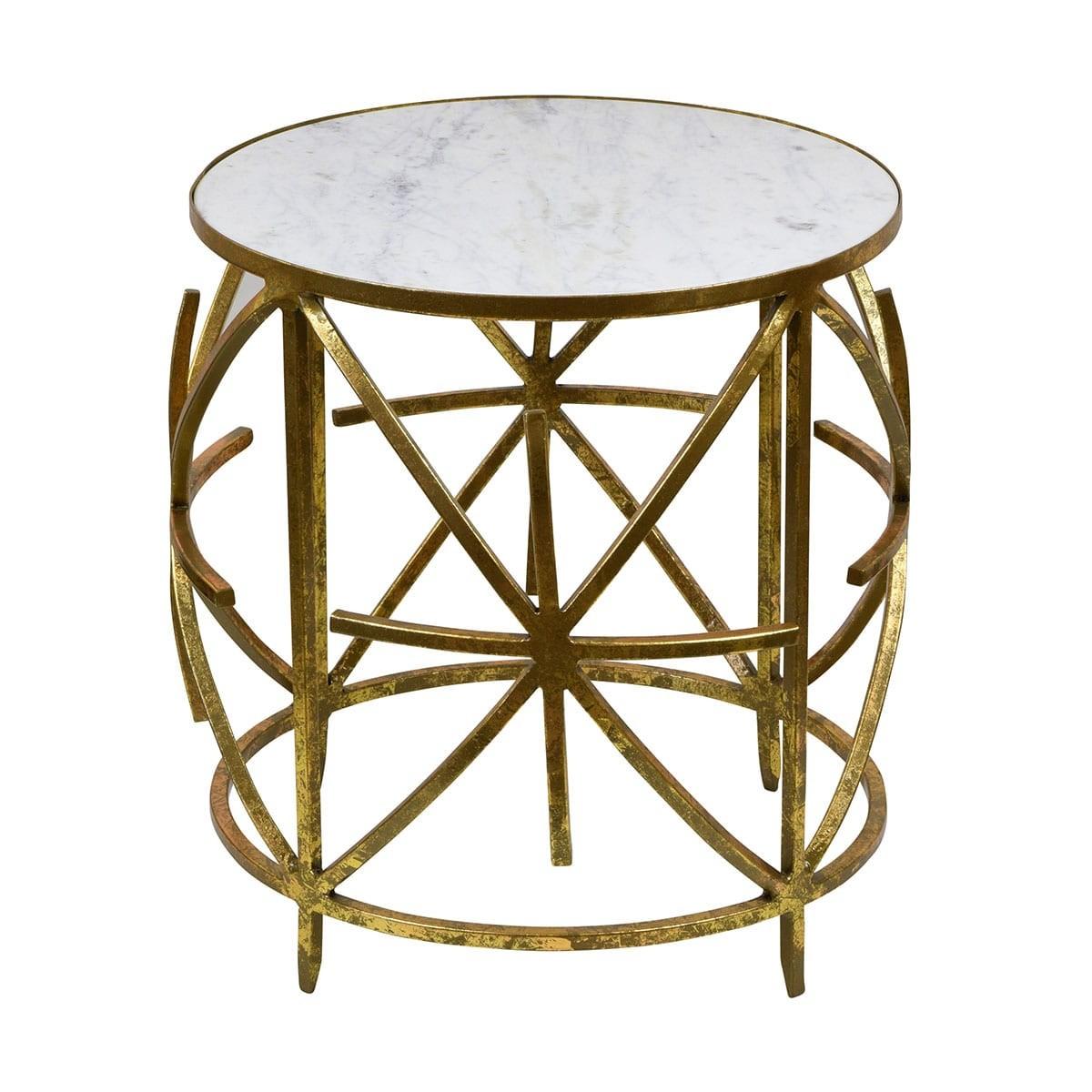 Nikolaos Iron & Marble Side Table