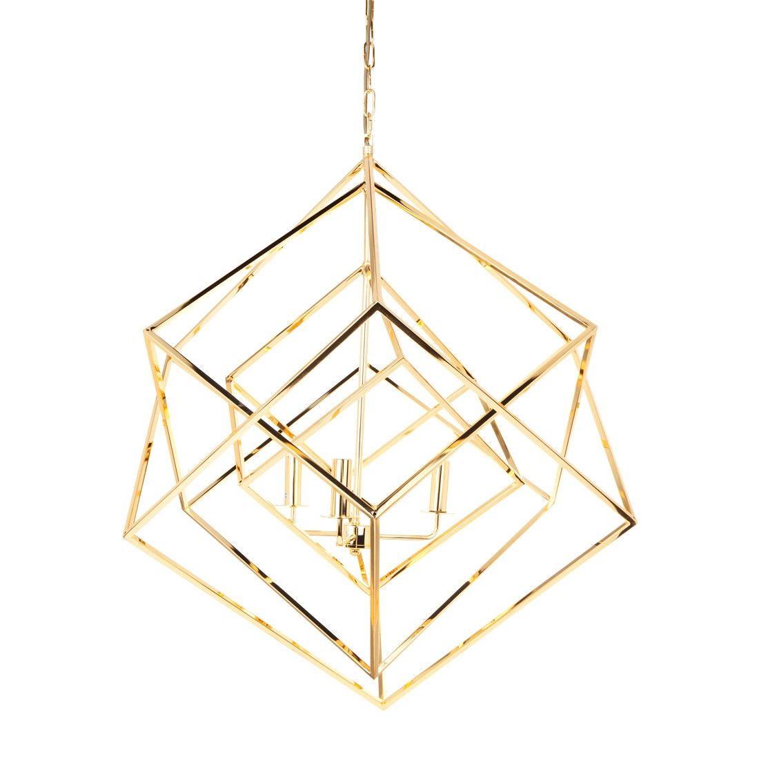 Tribecca Iron Pendant Light, Large, Gold