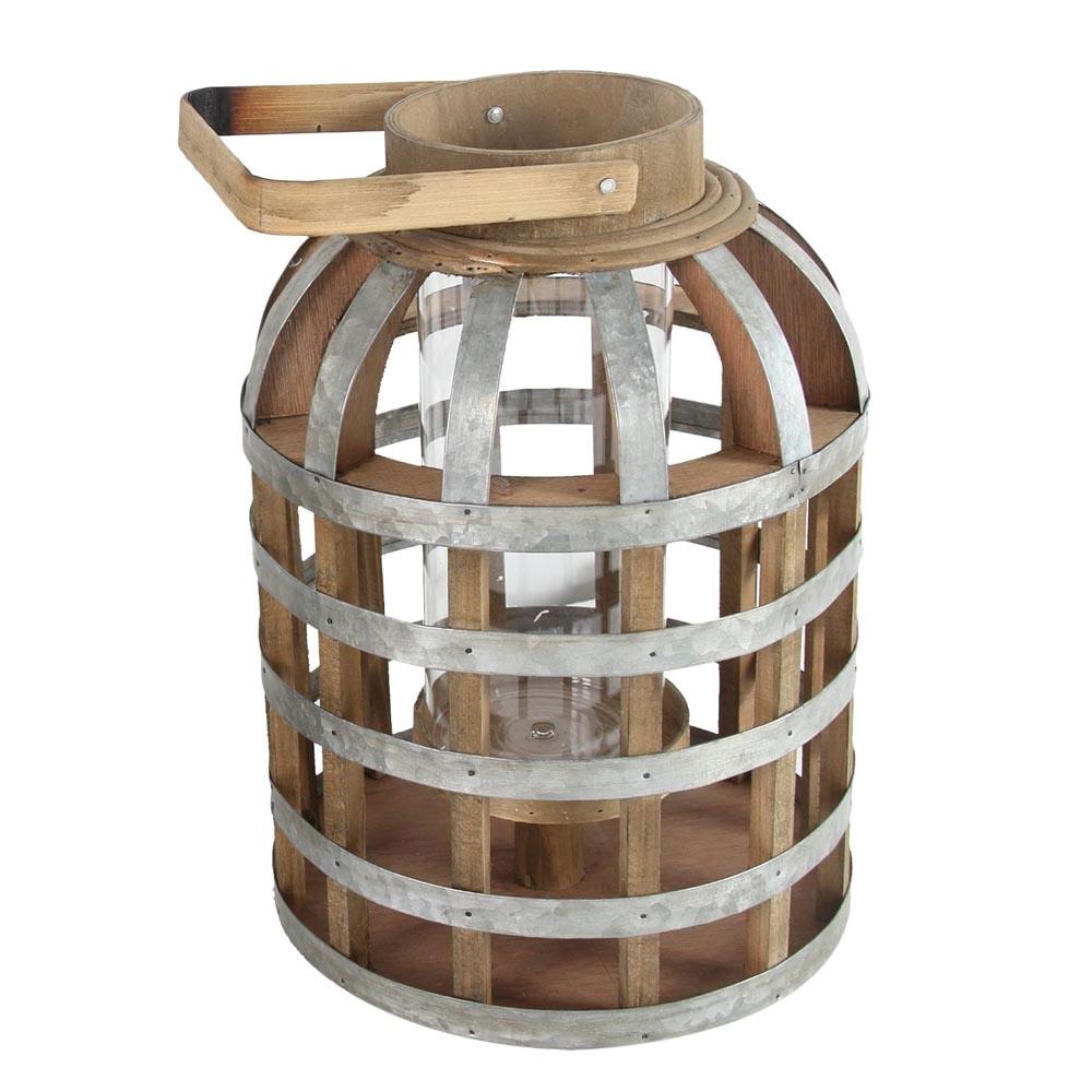 Shanty Iron & Bamboo Lantern