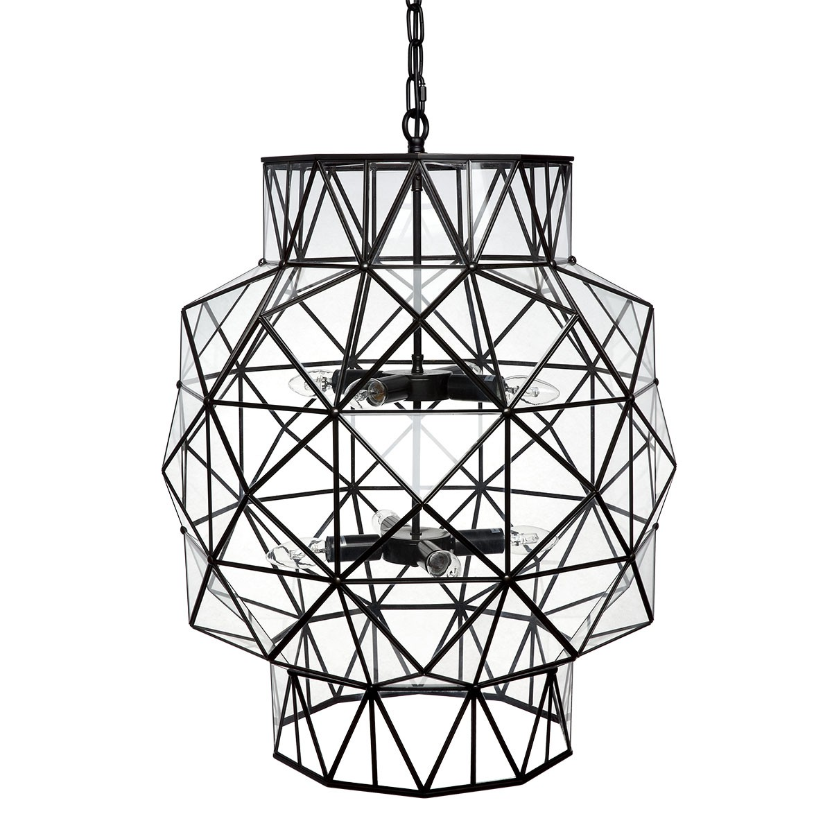 Coby Steel & Glass Pendant Light