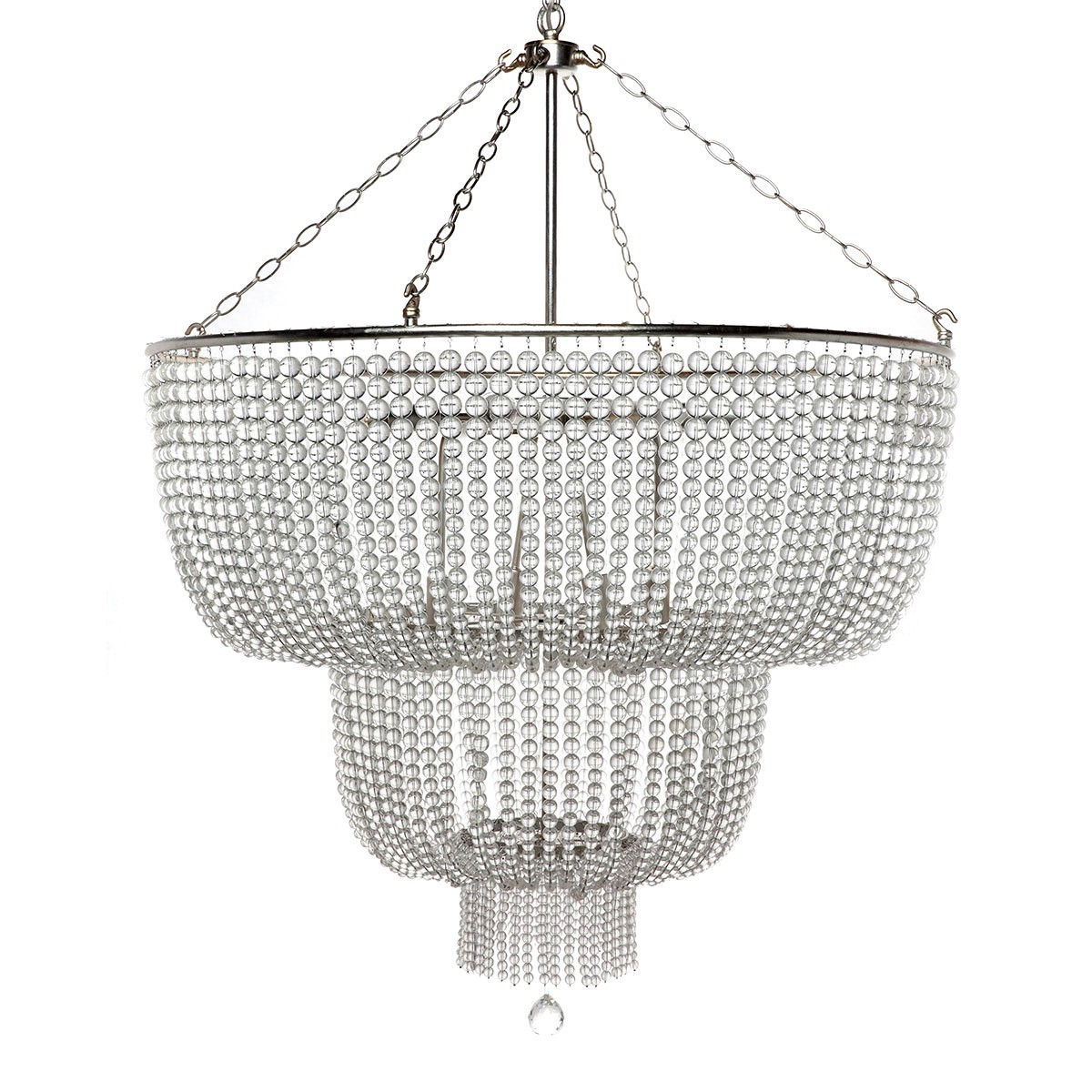 Meadow Lane Crystal Beaded Pendant Light, Large