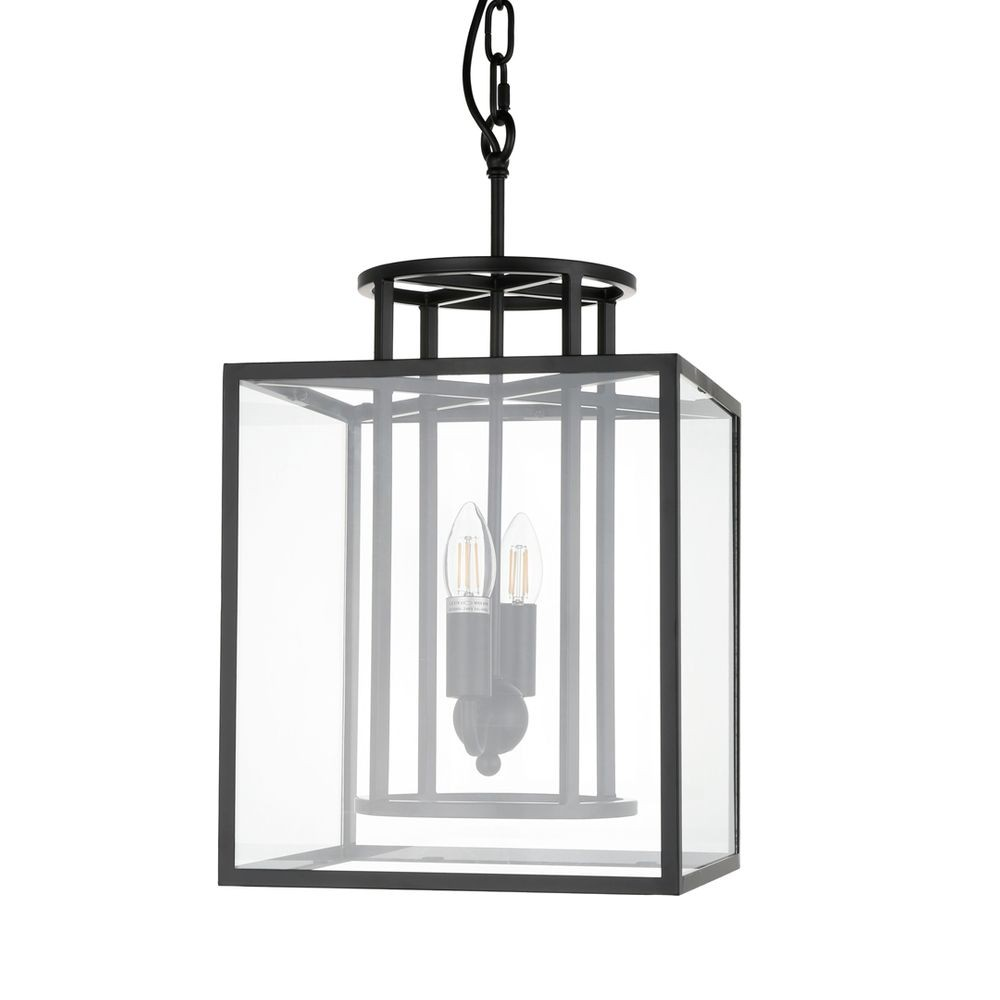 Concord Steel & Glass Pendant Light, Small, Black