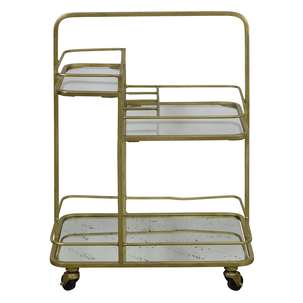 Artemis Iron & Mirror Bar Cart