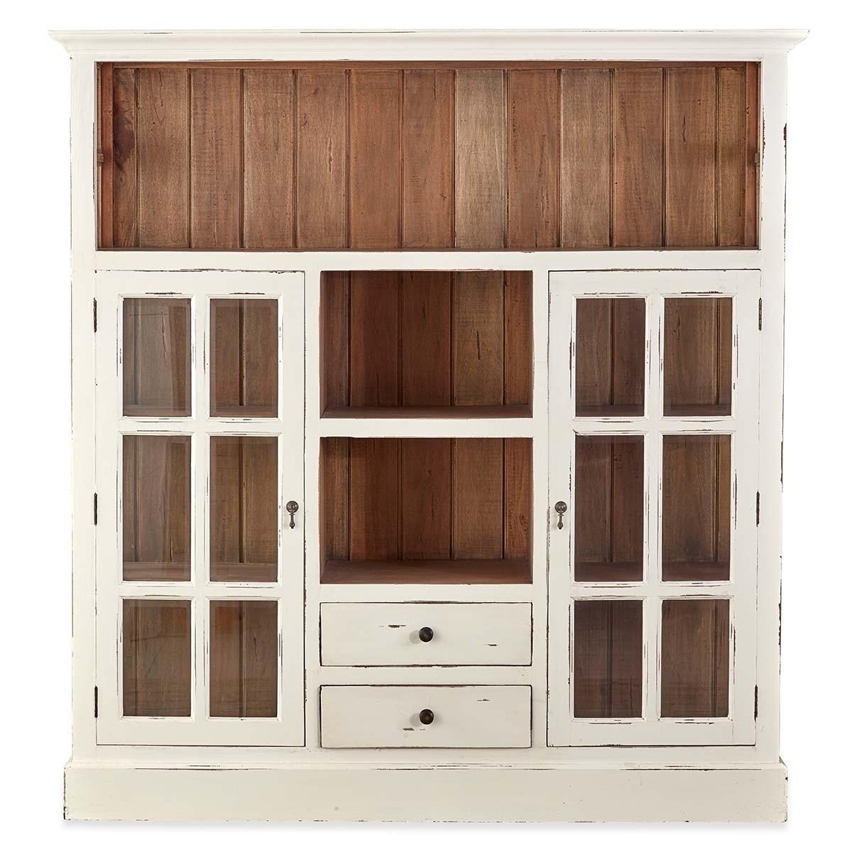 Bonois Mahogany Timber Display Cabinet / Cupboard