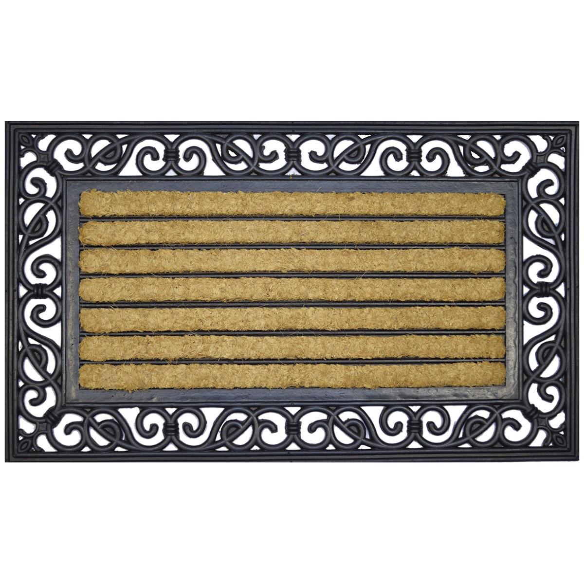 Colin Coir & Rubber Doormat, 75x45cm