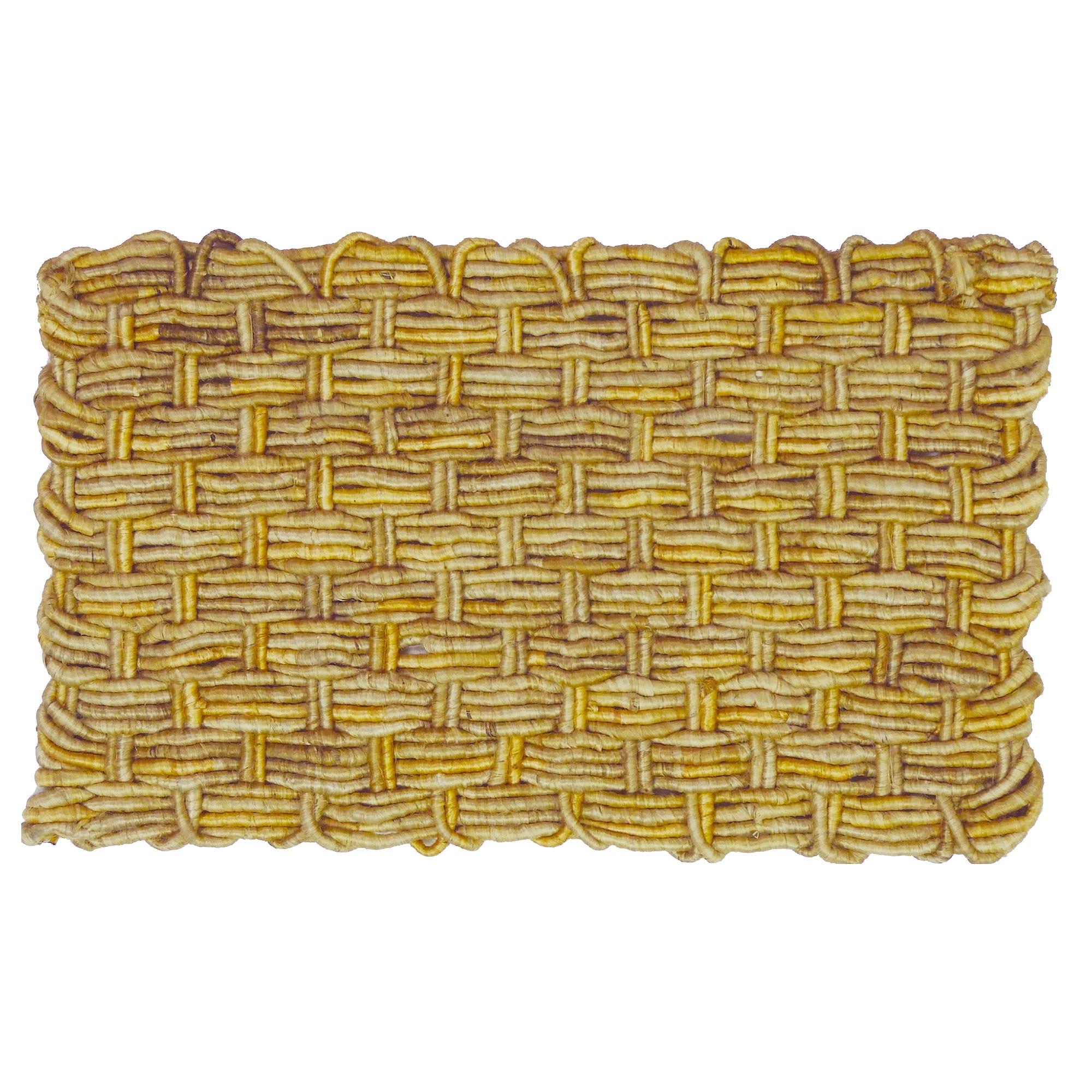 Jumbo Corridor Coiled Yarn Jute Doormat, 80x50cm