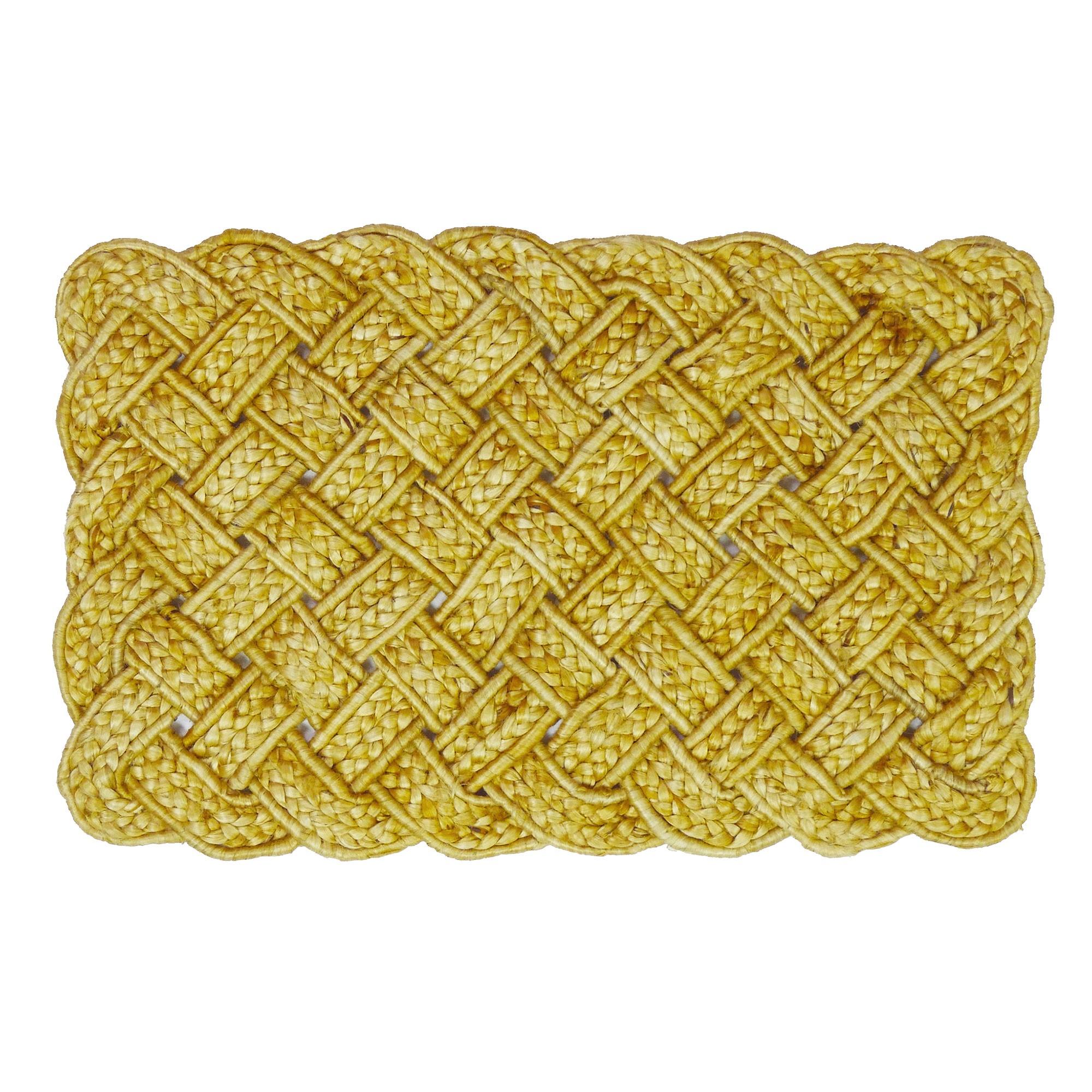 Valentina Handspun Coiled Yarn Jute Doormat, 80x50cm