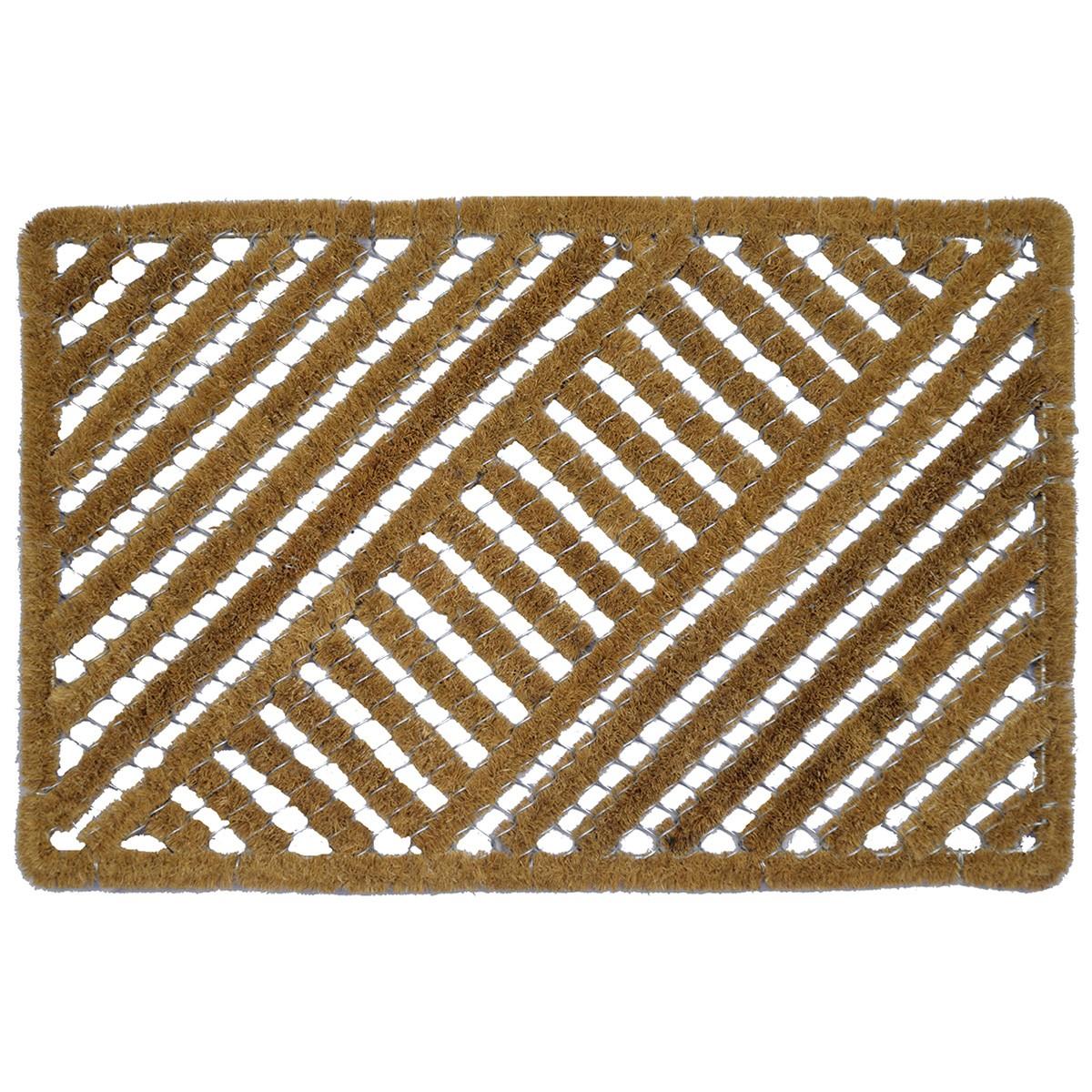 Maxwell Wired Coir Bootscraper Doormat, 80x50cm