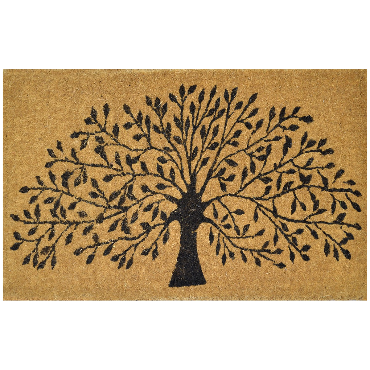 Tree of Life Premium Handwoven Coir Doormat, 80x50cm