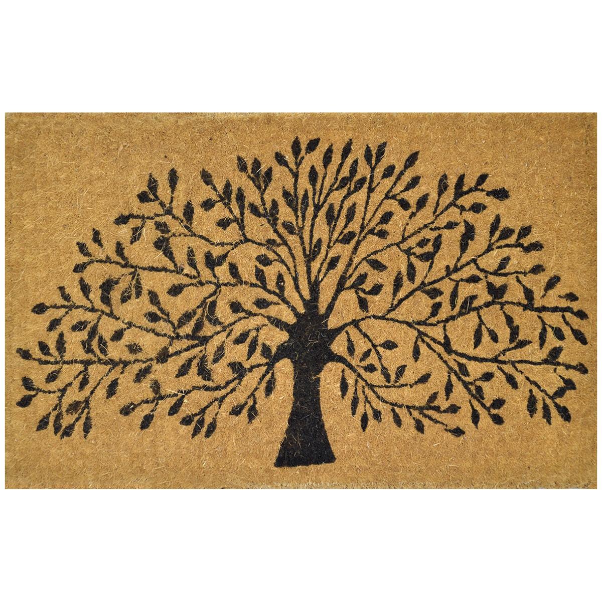 Tree of Life Premium Handwoven Coir Doormat, 80x50cm
