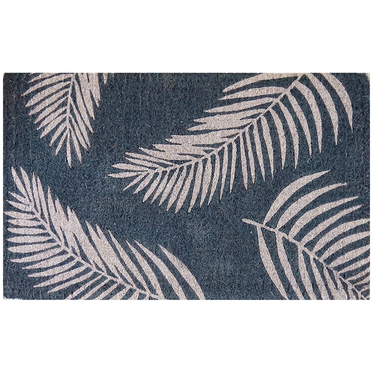 Fern Premium Handwoven Coir Doormat, 80x50cm