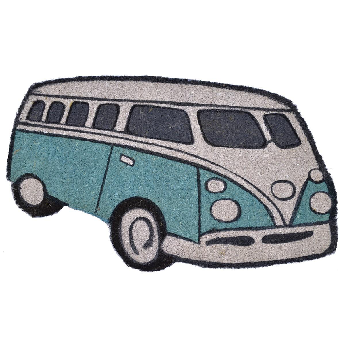 Kombi Coir Doormat, 75x43cm, Turquoise