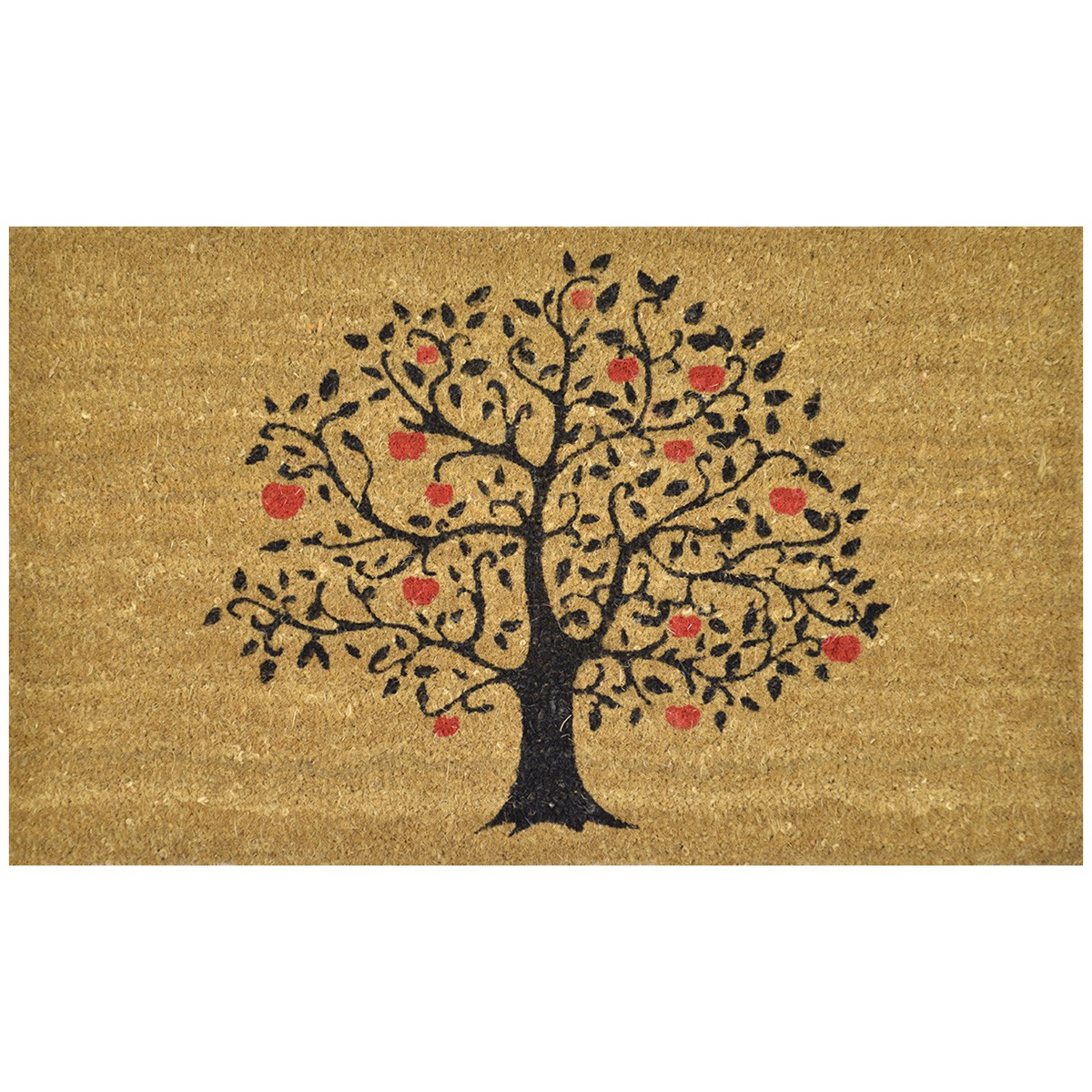 Apple Tree Coir Doormat, 75x45cm