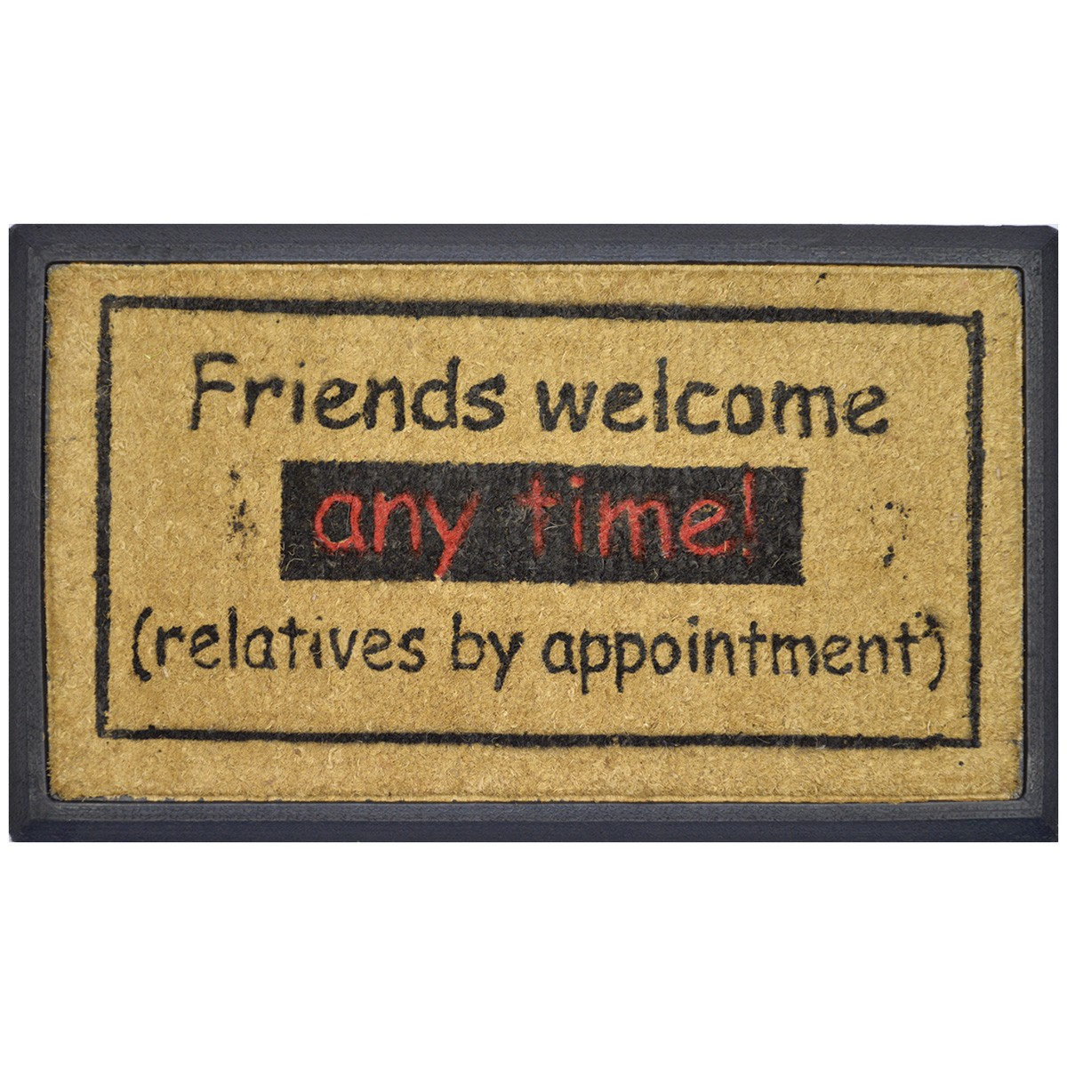 Friends Welcome Coir & Rubber Doormat, 70x40cm