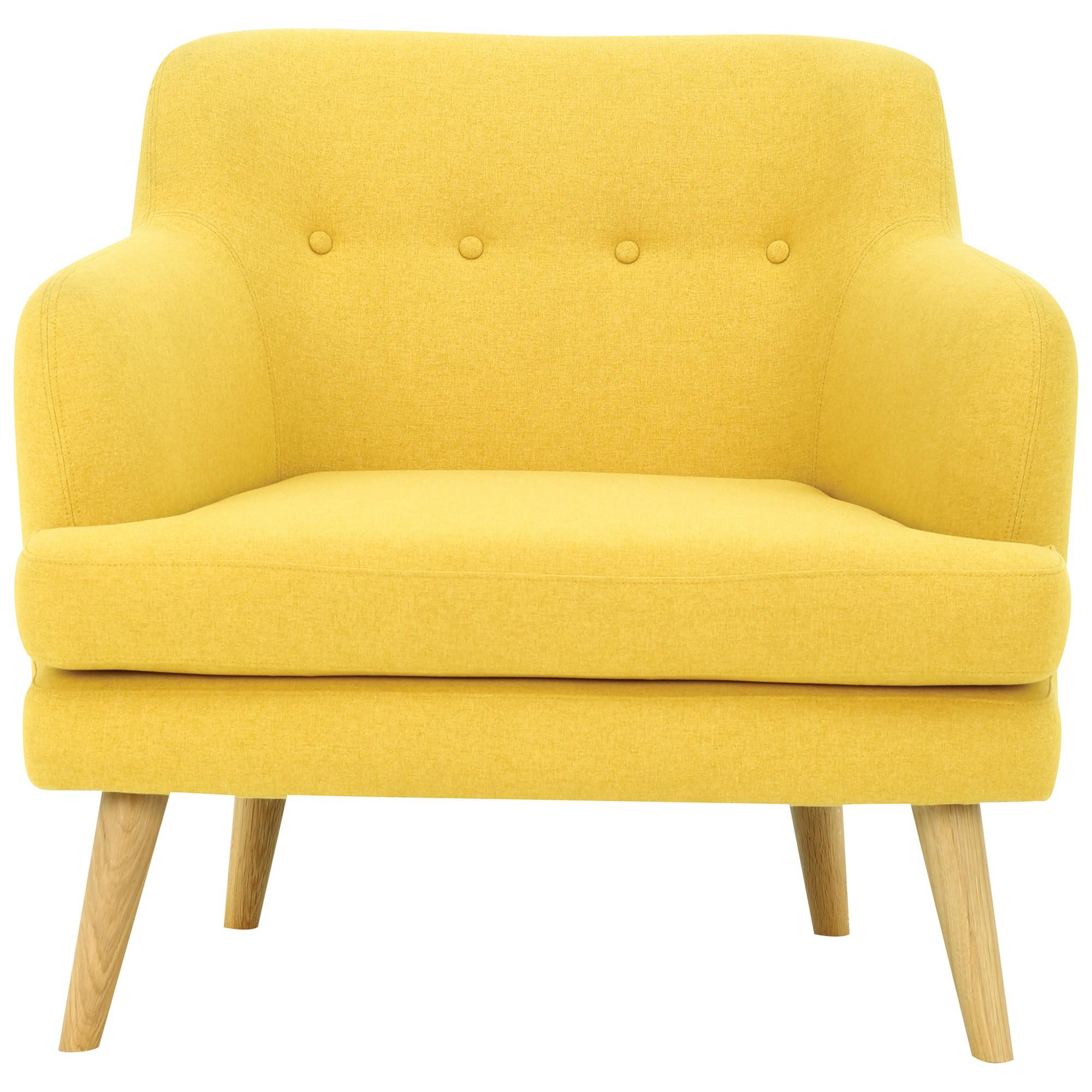 Exelero Commercial Grade Fabric Armchair, Yellow