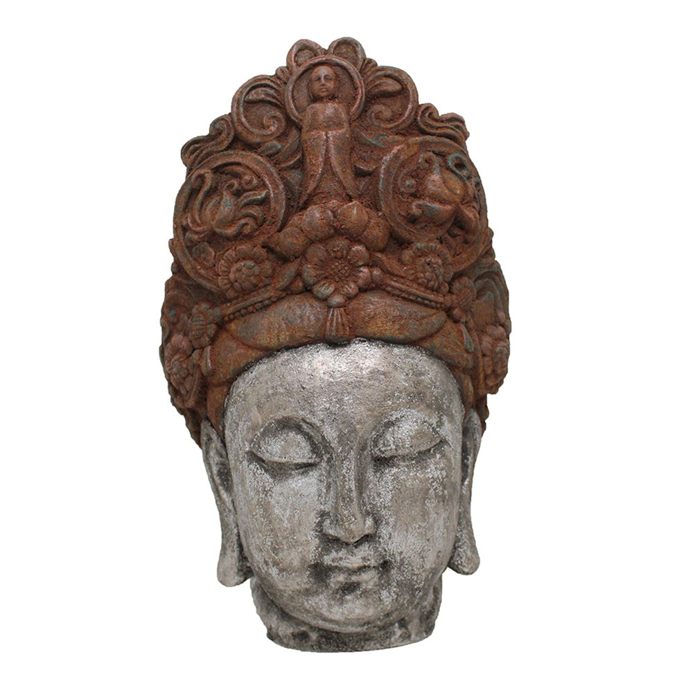 Khwang Buddha Head Figurine Decor