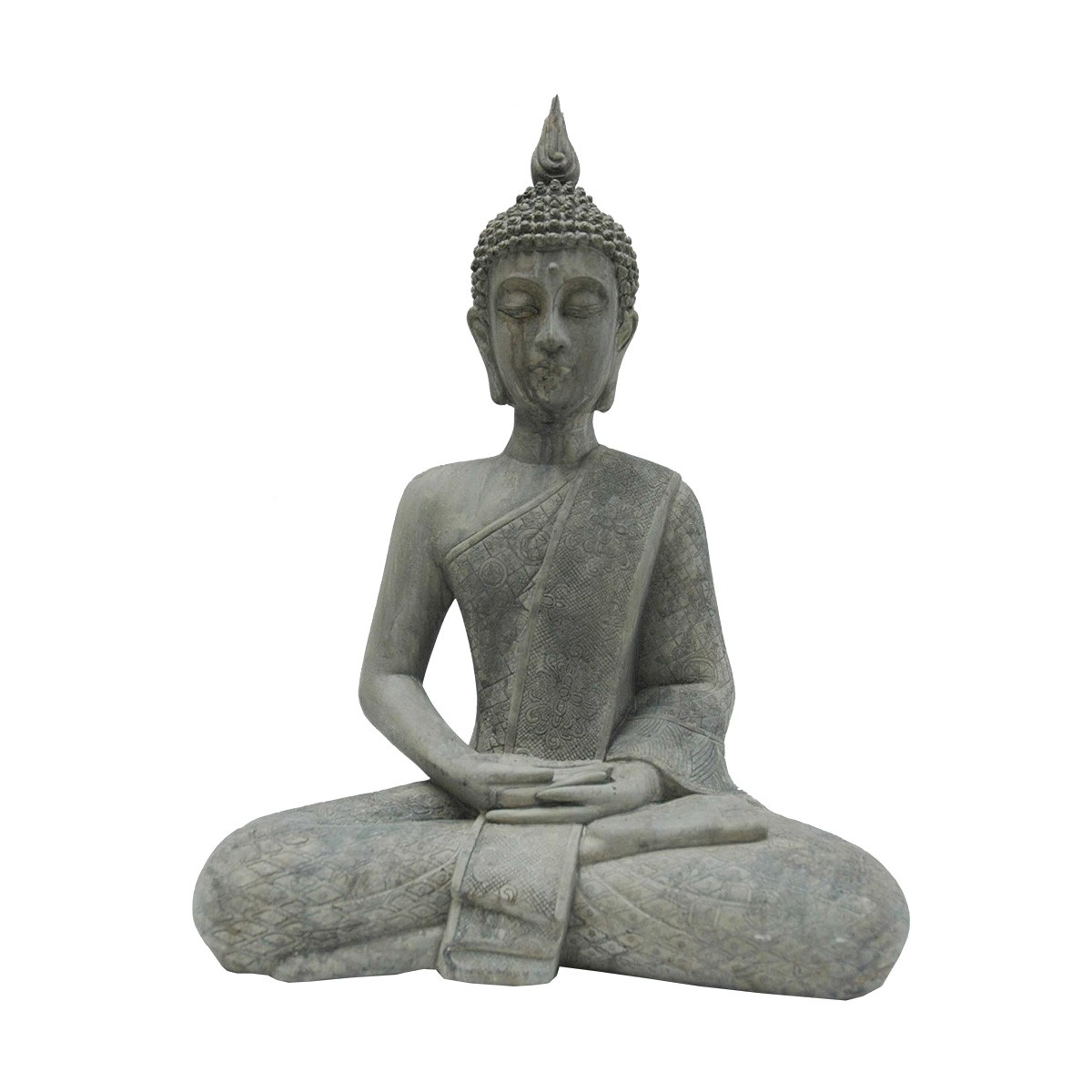 Polyresin Meditation Buddha Statue Decor, Type A