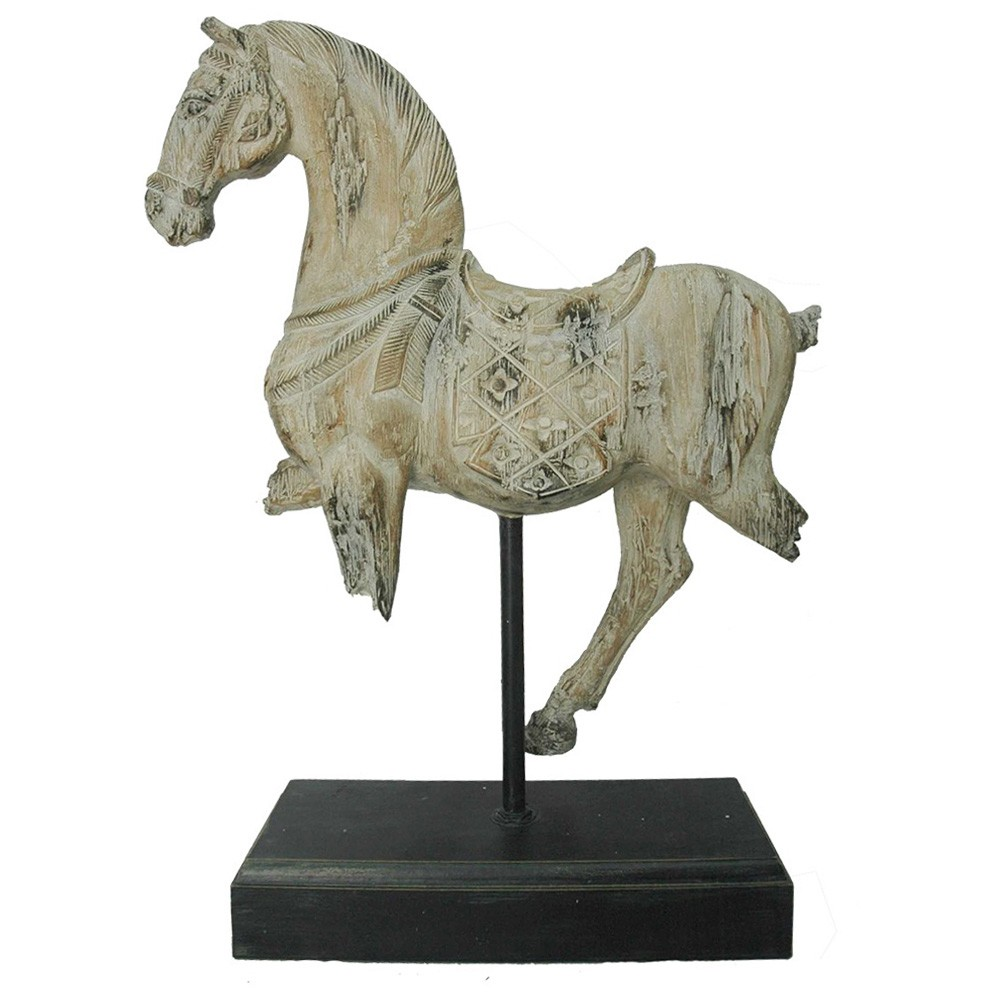 Ancient Dynasty Horse Statue on Base
