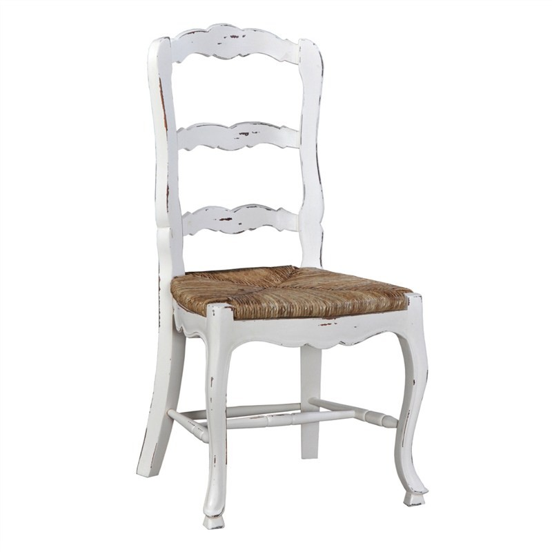 Margorie Solid Mahogany Timber Dining Chair, White Harvest