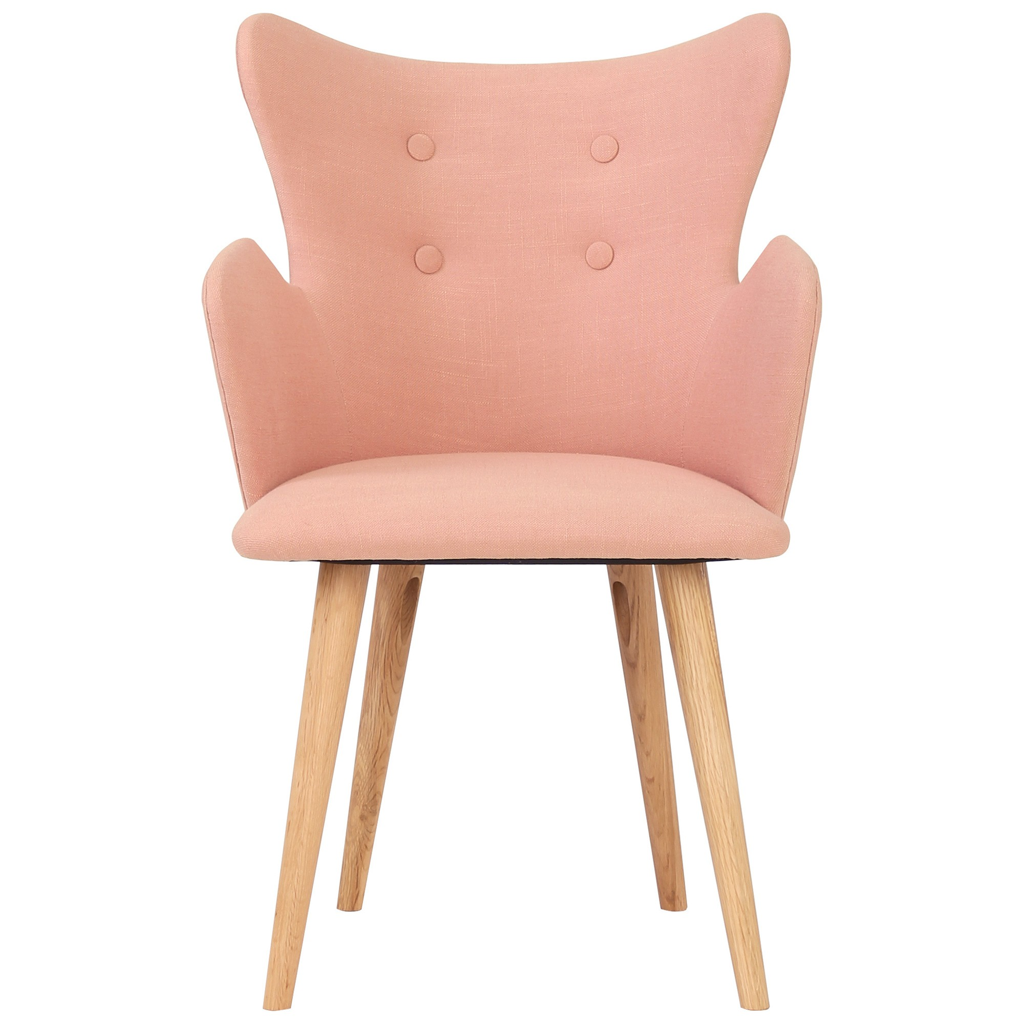 Kachina Fabric Dining Chair, Coral / Natural