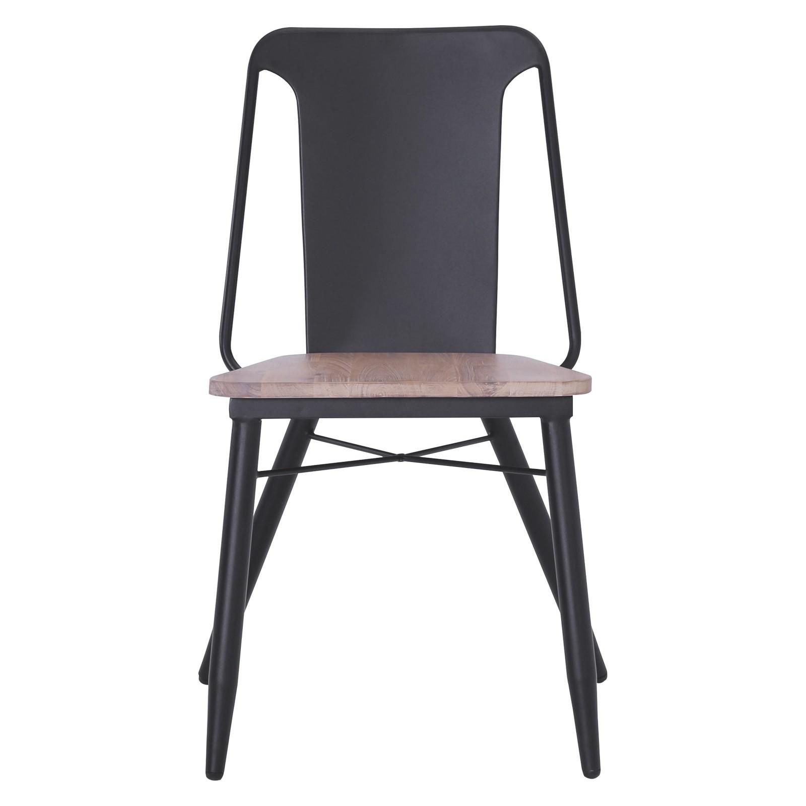 Binder Acacia Timber & Metal Dining Chair
