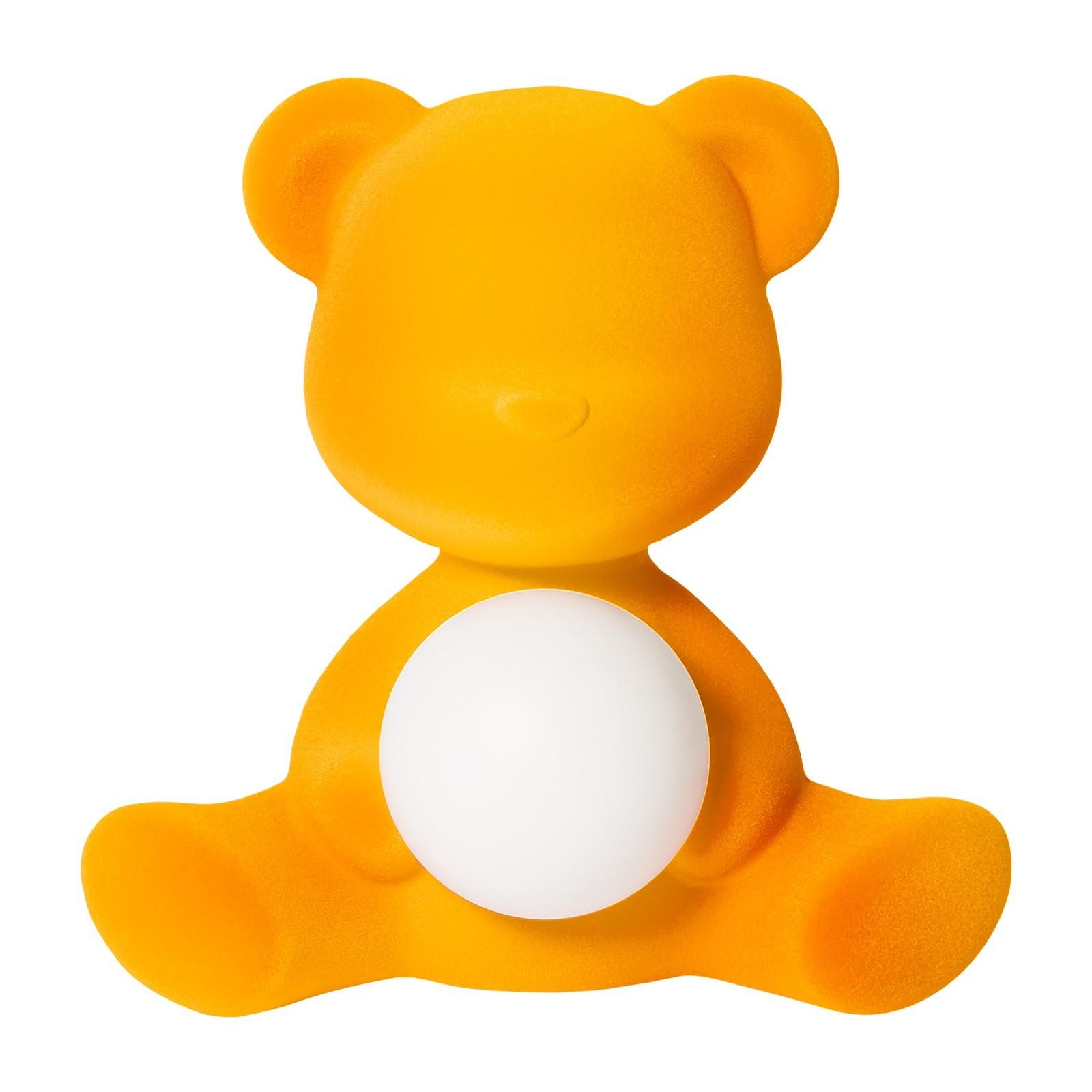 Qeeboo Teddy Girl Rechargeable LED Table Lamp, Dark Gold Velvet