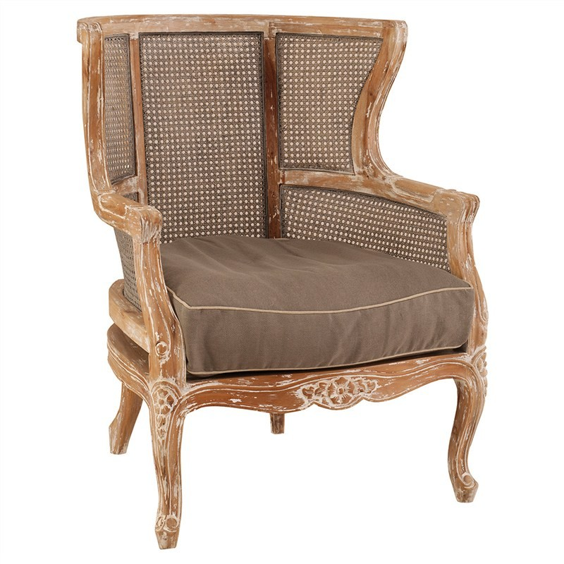 Vichy Solid Mahogany Timber Queen Chair