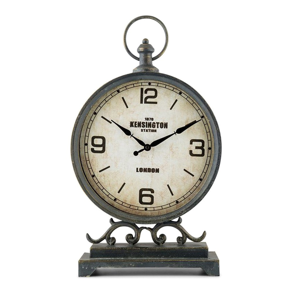 Kensington Large Metal Table Clock