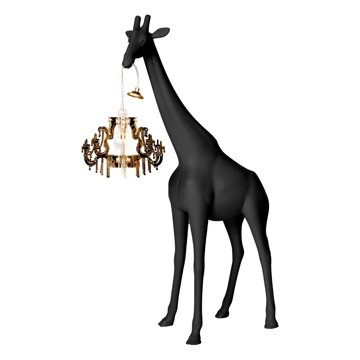 Qeeboo Giraffe In Love Table Lamp, Black