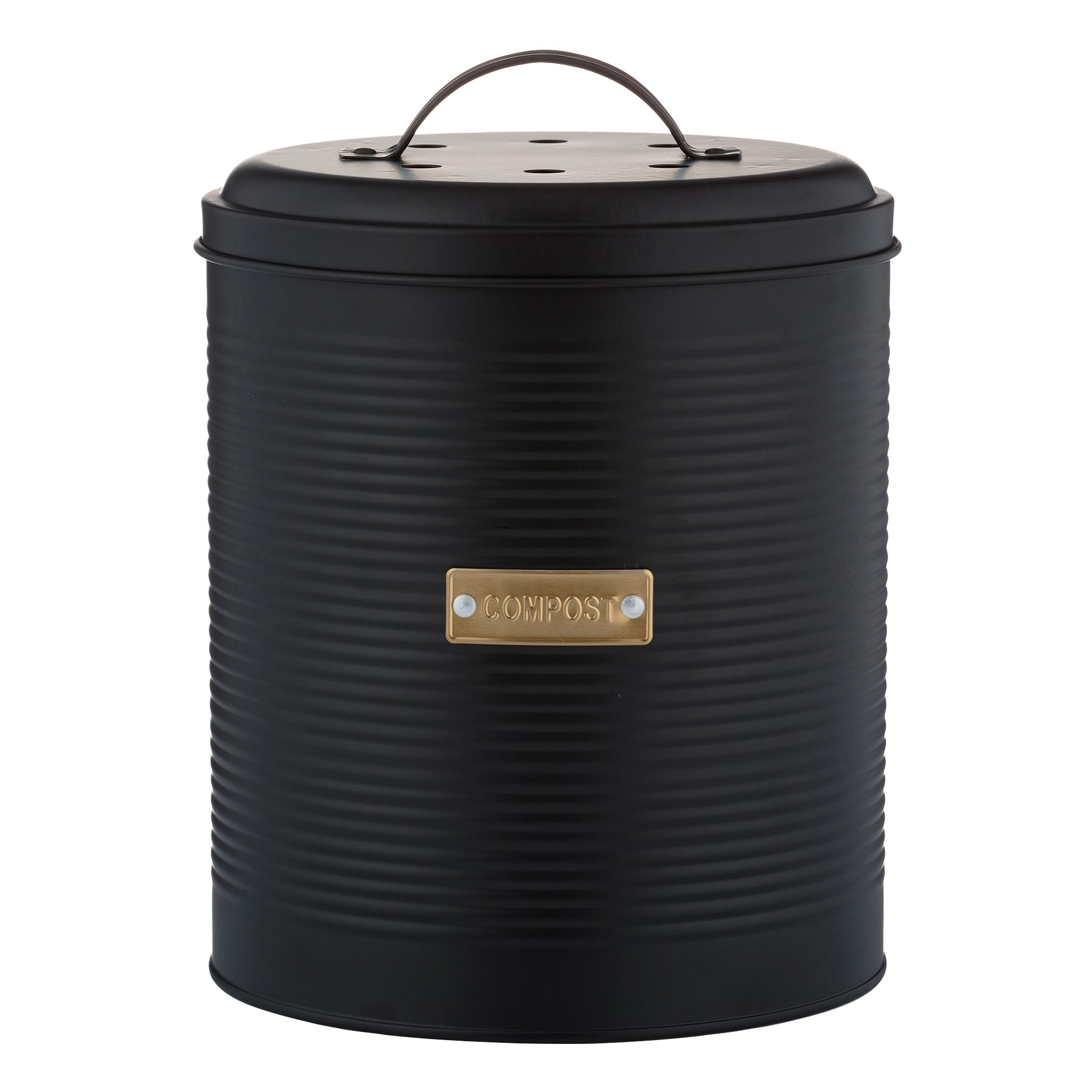 Typhoon Otto Compost Caddy, 2.5 Litre, Black