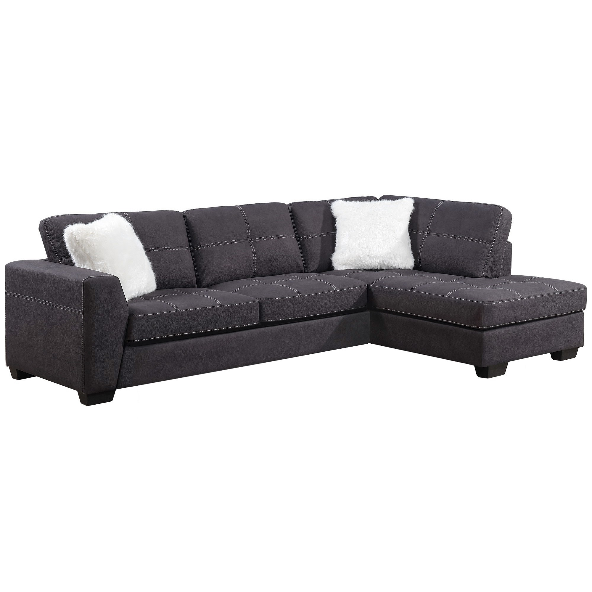 Modena Fabric 2 Seater Corner Lounge with Right Hand Facing Chaise