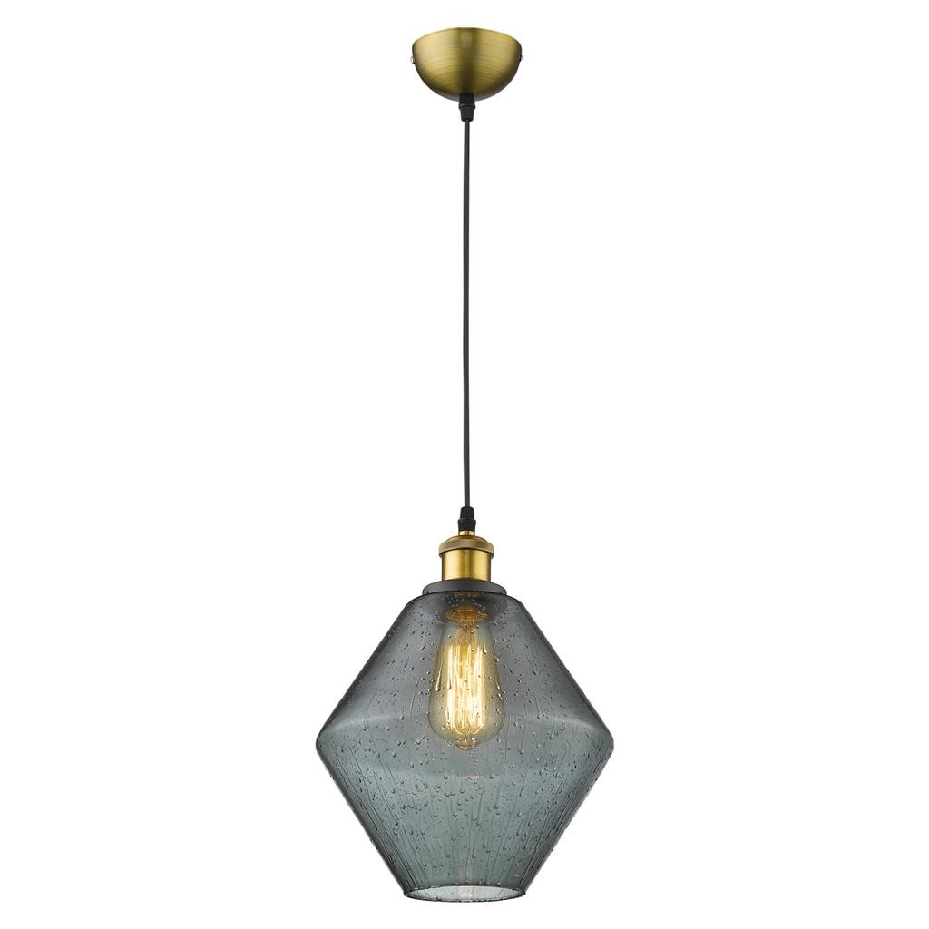 Alice Glass Pendant Light, Grey