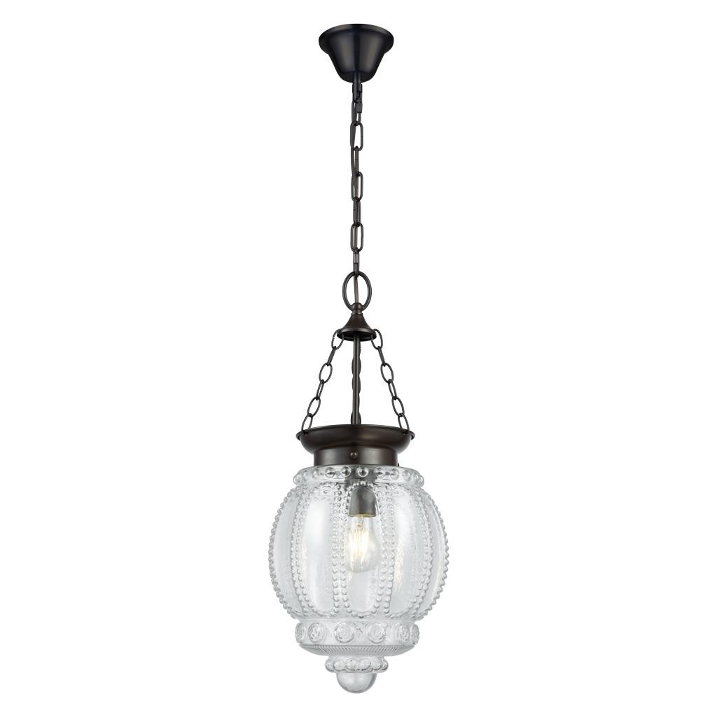 Chelsea Glass Lantern Pendant Light, Clear