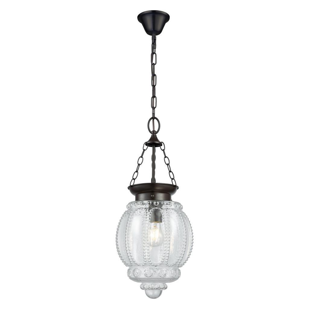 Chelsea Glass Lantern Pendant Light, Clear