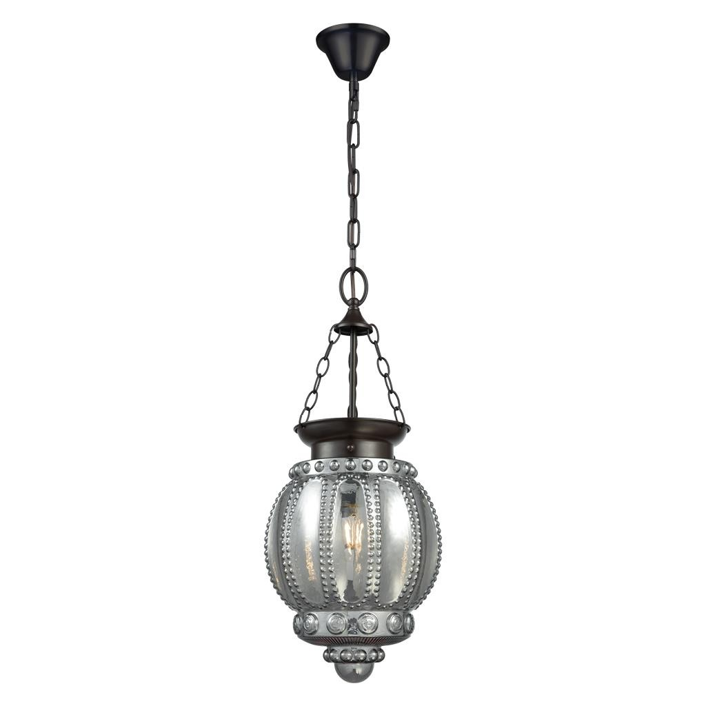 Chelsea Glass Lantern Pendant Light, Grey