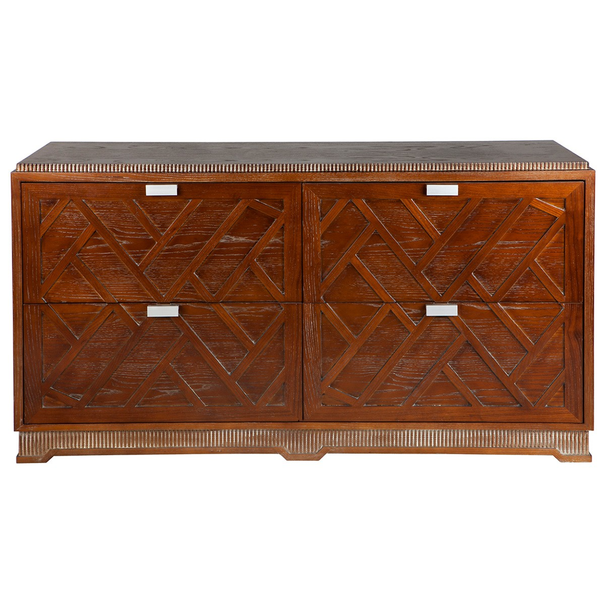 San Tropez Wooden 4 Drawer Chest, Natural