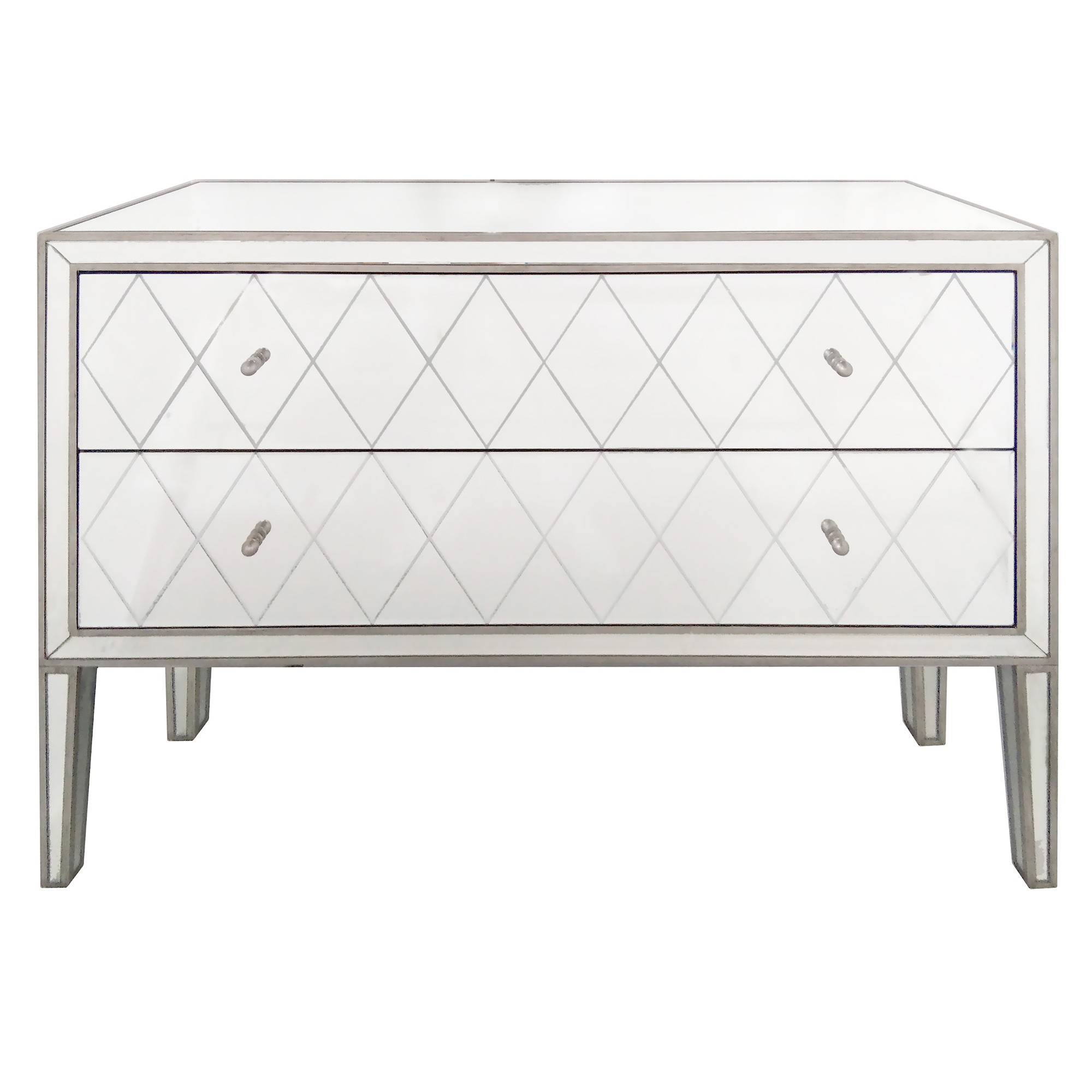 Krystal Mirrored 2 Drawer Chest