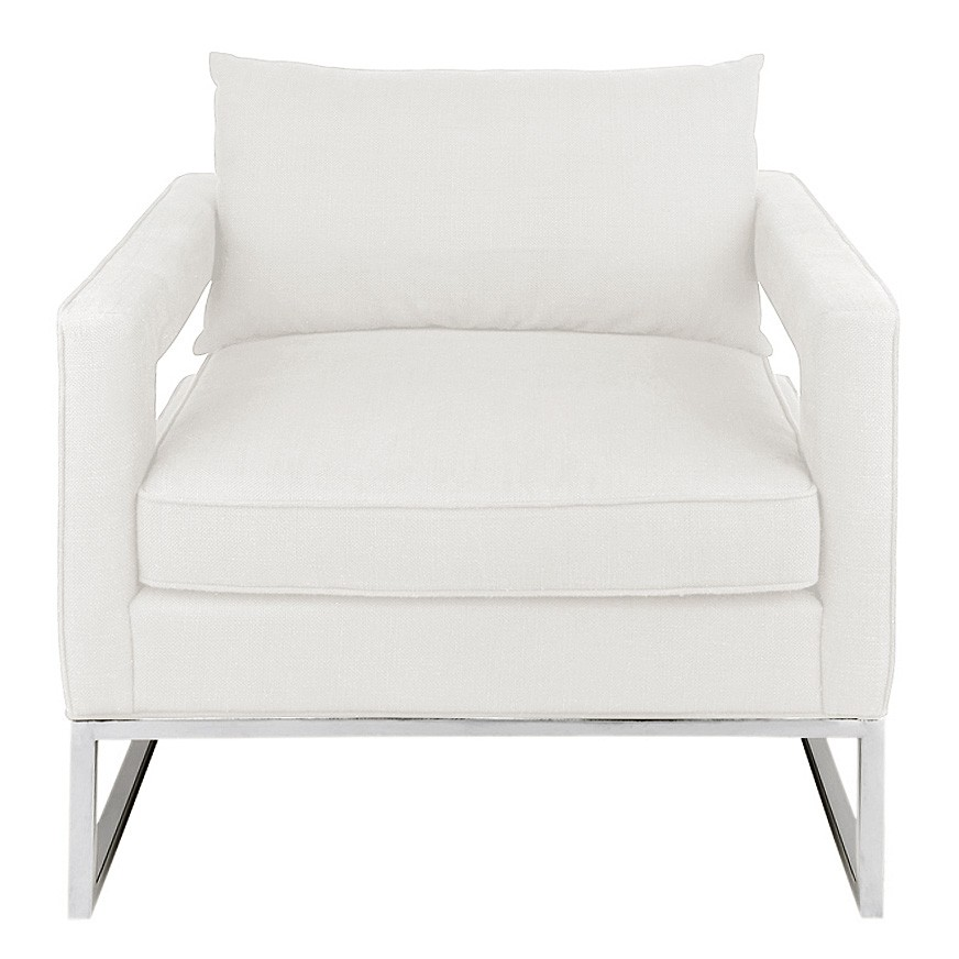 Elle Fabric Armchair, Light Beige