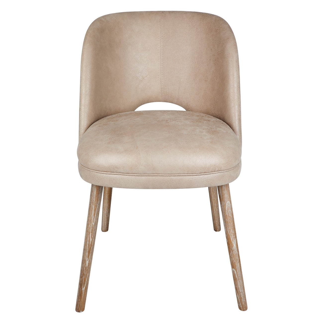 Essex Leather Dining Chair, Taupe