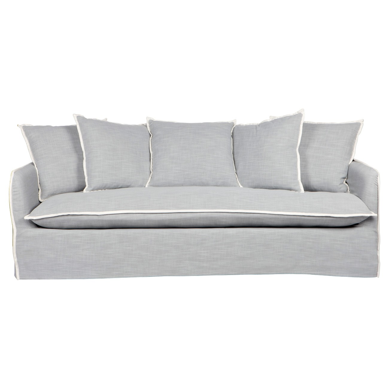 Long Island Fabric Sofa, 3 Seater, Dove Grey