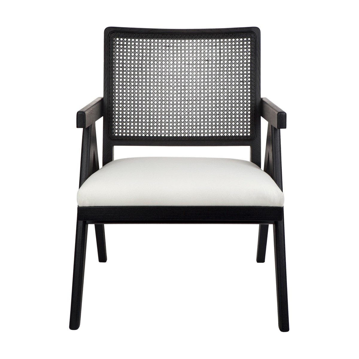 The Imperial Oak Timber Armchair, Black / White