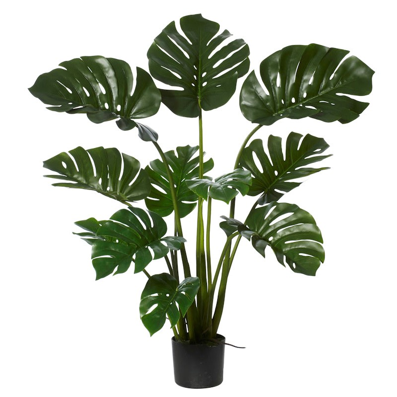 Potted Artificial Monstera Plant, 122cm