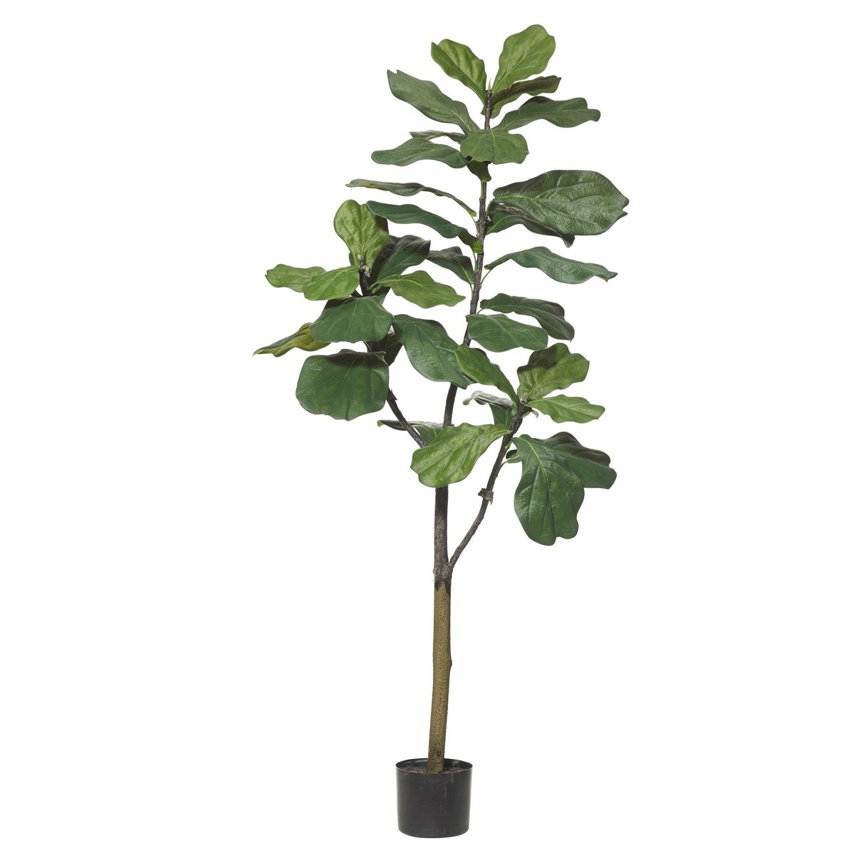Potted Artificial Fiddle Leaf Fig Tree, Type B, 152cm