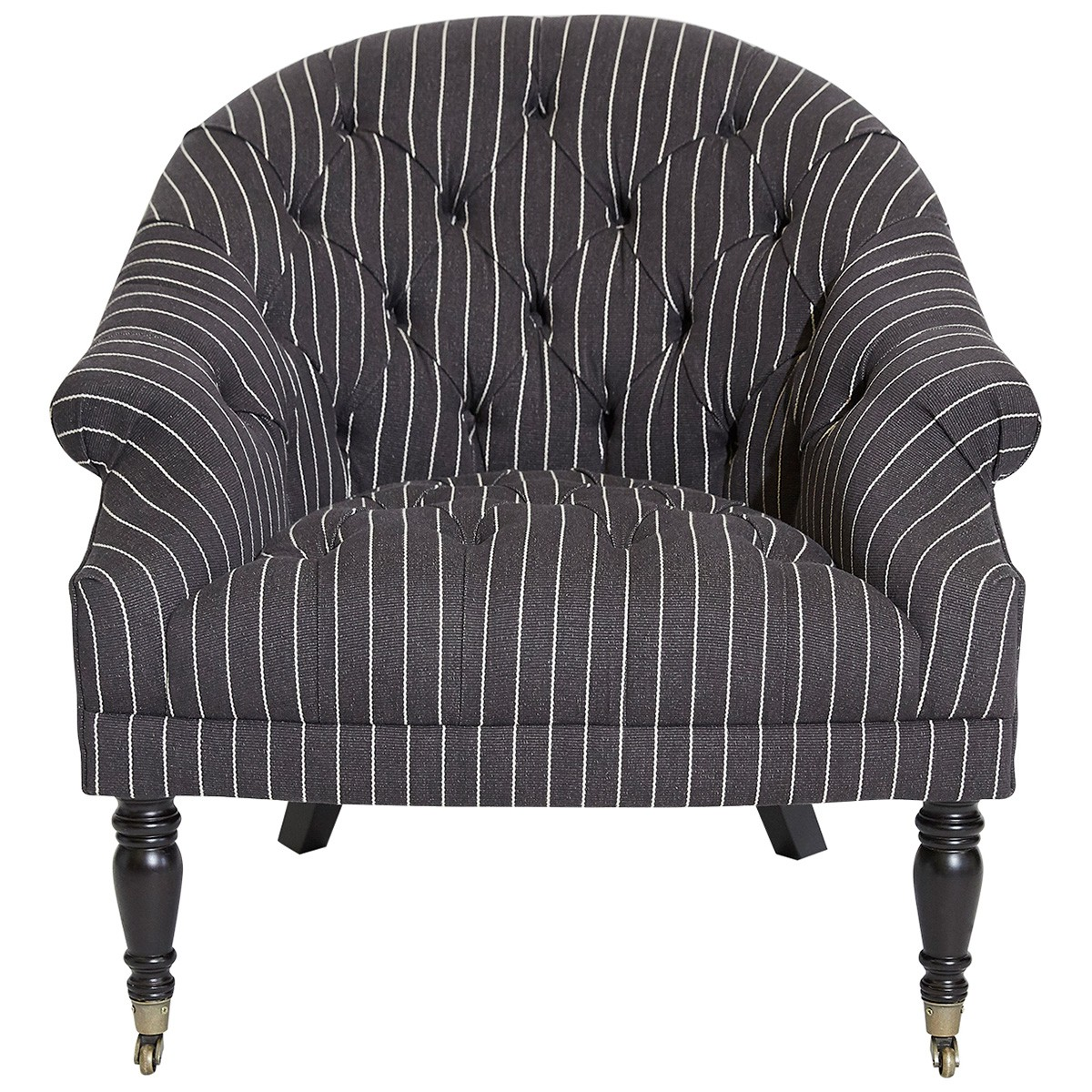 Leura Fabric Armchair with Castors